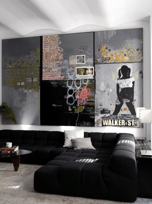 Гостиная с уникальной арт-стеной