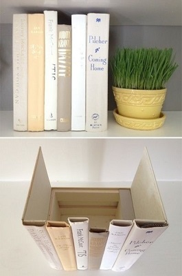Фальш-коробка из книг для роутера