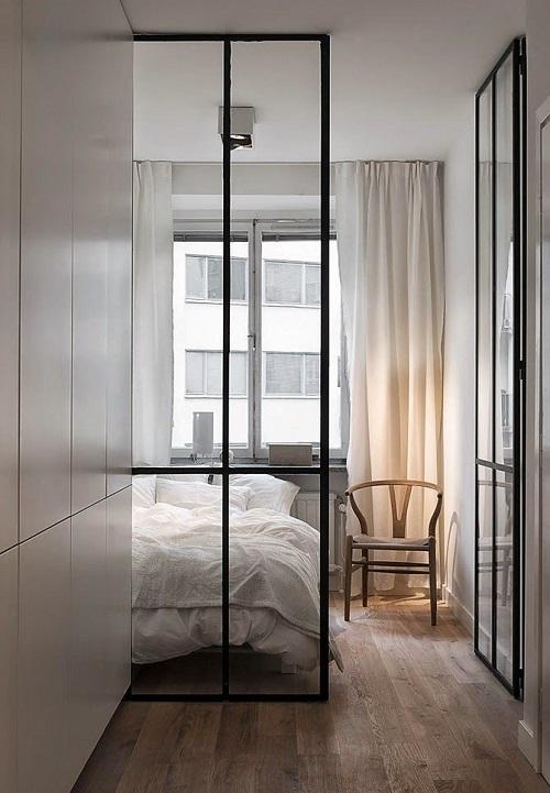 Светлые шторы для маленькой квартиры