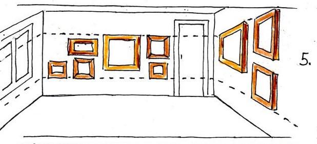Развеска картин в помещении