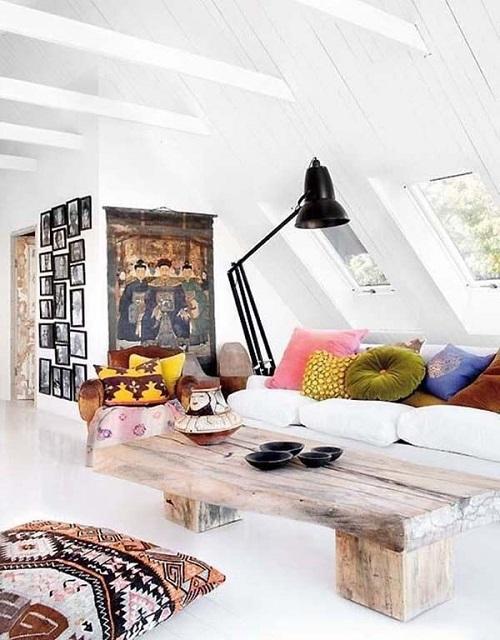 Дизайн гостиной в стиле Бохо-шик