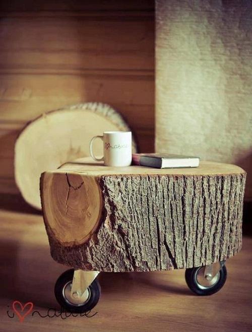 Кофейный столик из пня