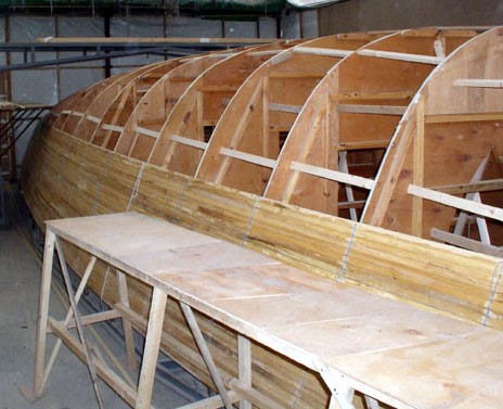 Внутренний каркас лодки