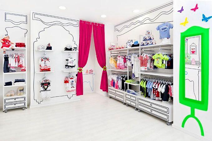Пример цветового выделения в интерьере магазина