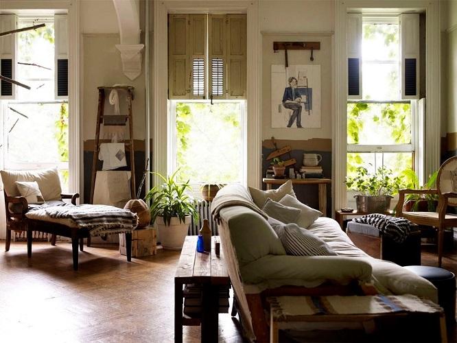 Естественный свет в гостиной