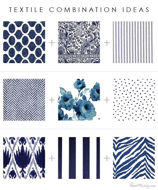 Сочетание рисунков текстиля