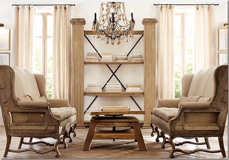 Разобранная мебель в классической гостиной