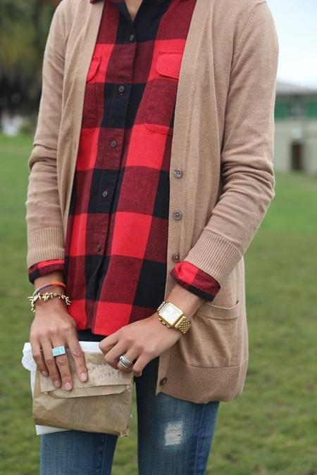 Хипстерская рубашка в стиле Баффало шик