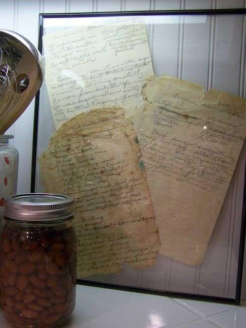 Кулинарные рецепты в рамке