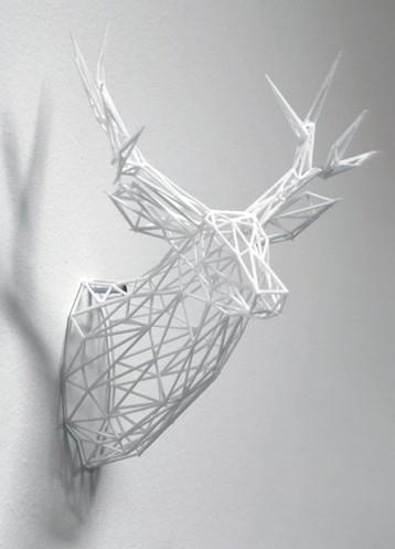 Голова оленя напечатанная на 3д принтере