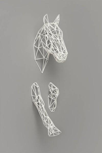 Голова лошади для декорирования интерьера напечатано на 3д принтере