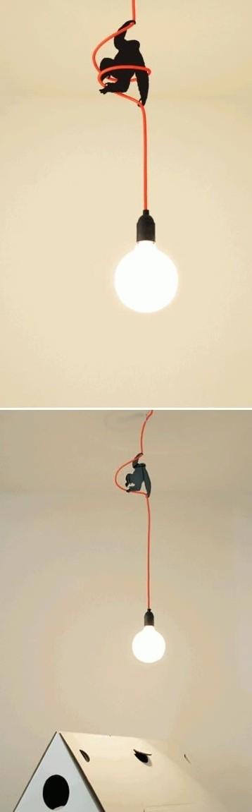 3d печать - украшение для электро провода в виде гориллы.