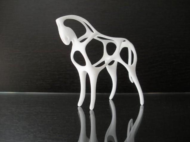 Фигура лошади напечатанная на 3д принтере