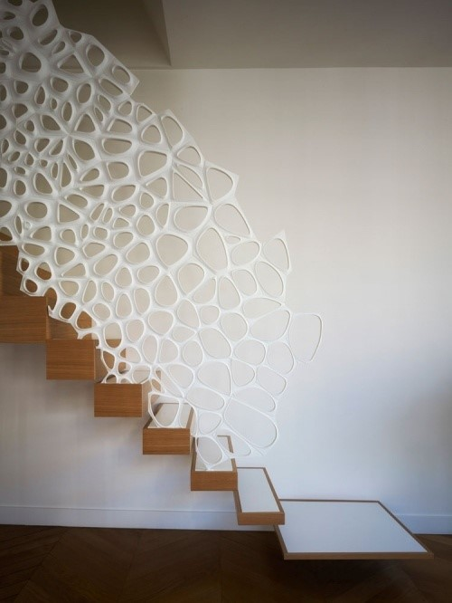 Фигурные 3д перила для лестницы