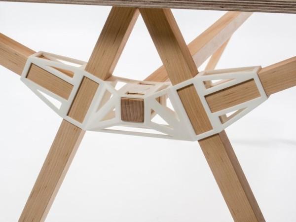 Элементы конструкции мебели напечатанные на 3д принтере