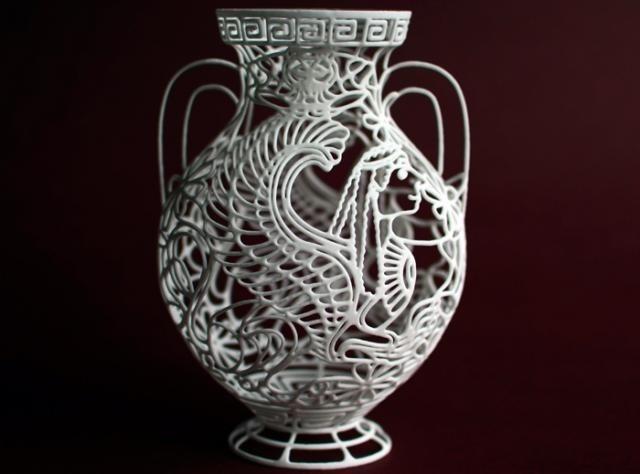 3D печать. Фигурная ваза в классическом стиле