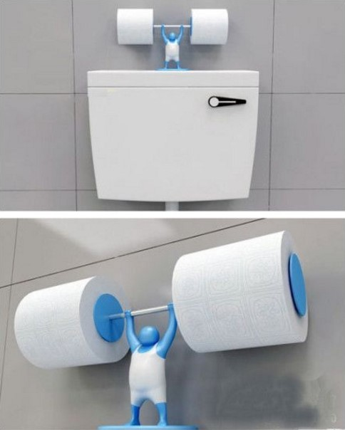 Держатель для туалетной бумаги в виде штангиста