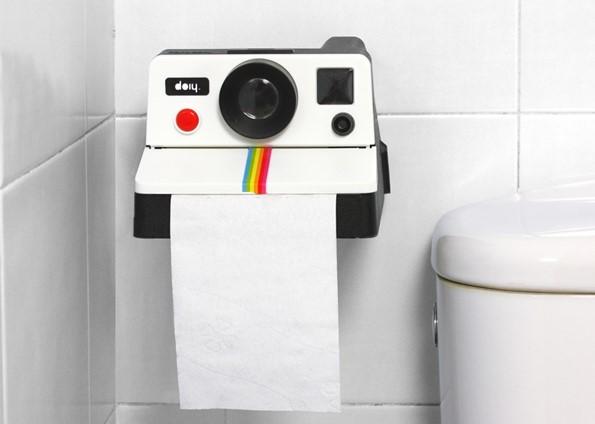Держатель для туалетной бумаги в виде фотоаппарата Полароид