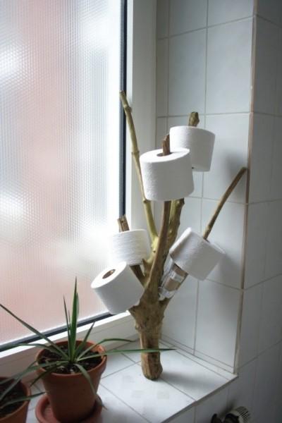 Держатель для туалетной бумаги в виде дерева своими руками