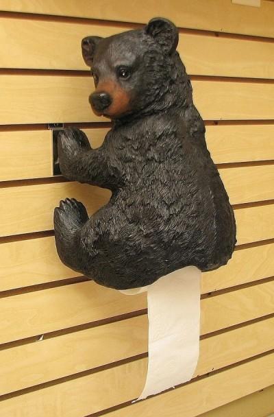 Держатель для туалетной бумаги в виде какающего медведя