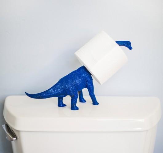 Держатель для туалетной бумаги в виде динозавра