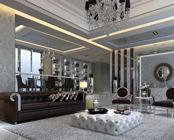 Гостиная в стиле современный Арт-Деко