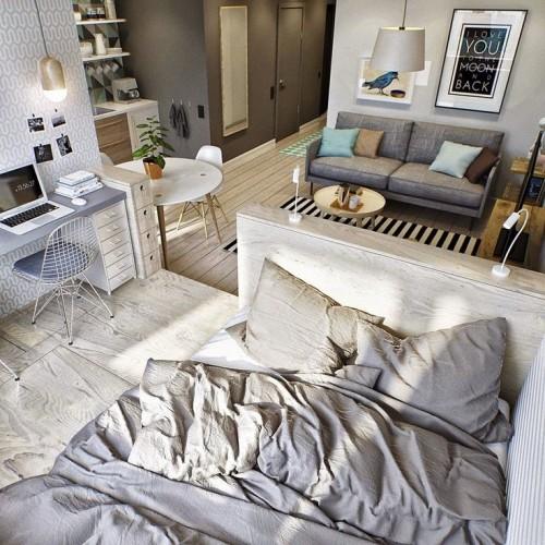 Современная квартира свободной планировки