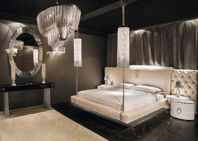 Спальня в черном цвете в стиле Арт Деко