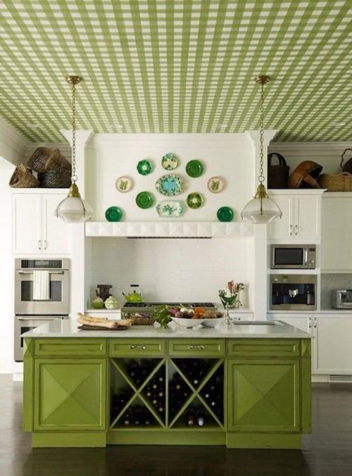 Кухня зеленого цвета. Зеленый интерьер кухни