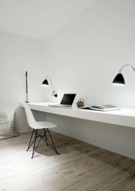 Белый интерьер в стиле минимализм
