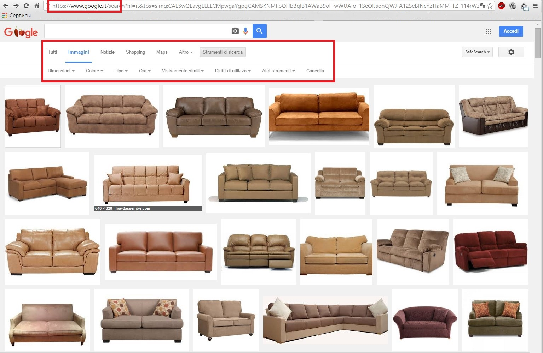 Результат выдачи картинок с google.it