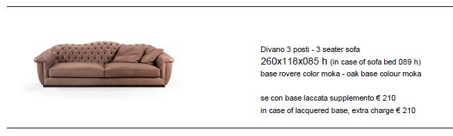 Фрагмент прайс-листа итальянского производителя мебели