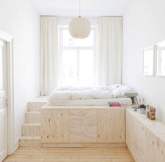 Самодельная кровать подиум из фанеры