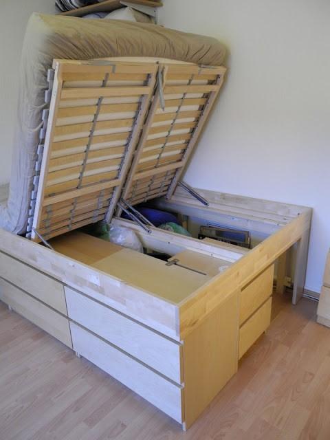 Кровать подиум из тумбочек IKEA своими руками