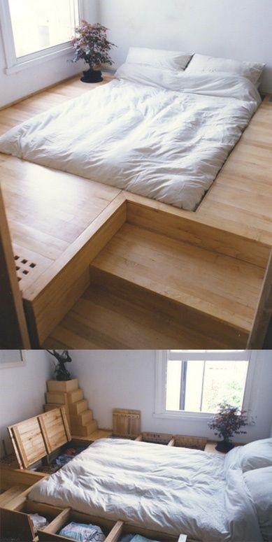 Кровать подиум в японском стиле