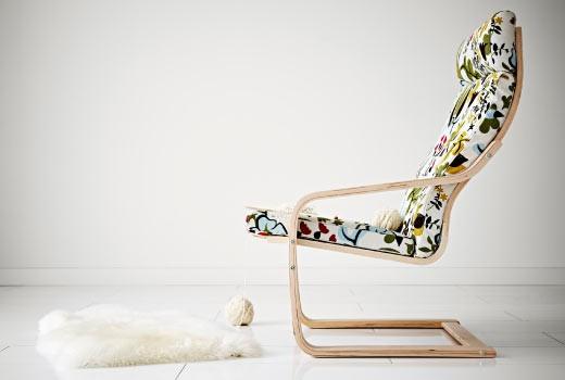 Кресло-качалка Поэнг из гнутой фанеры. Икеа