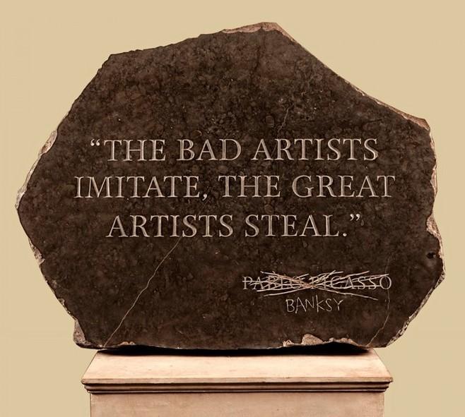 Цитата Пикассо, украденная Бэнкси