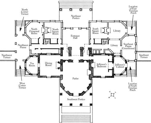 Планировка поместья Монтичелло