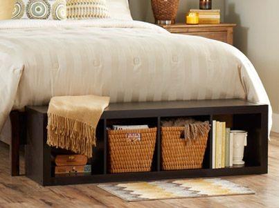 Место для хранения в изножье кровати