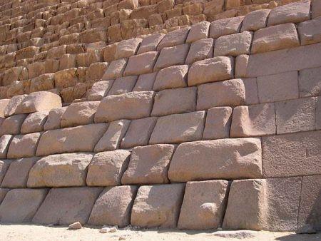 Фасадная отделка египетских пирамид