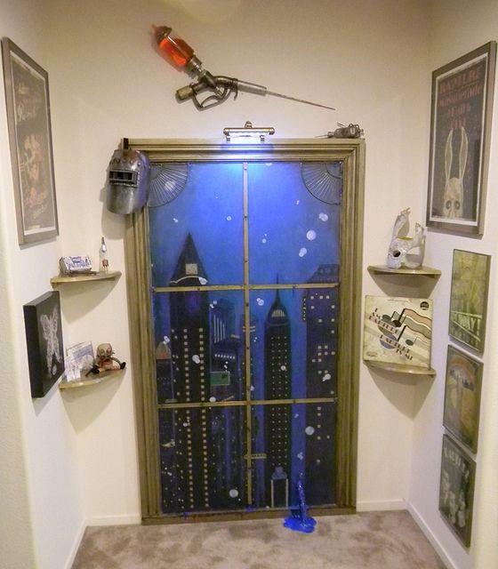 Имитация окна на двери