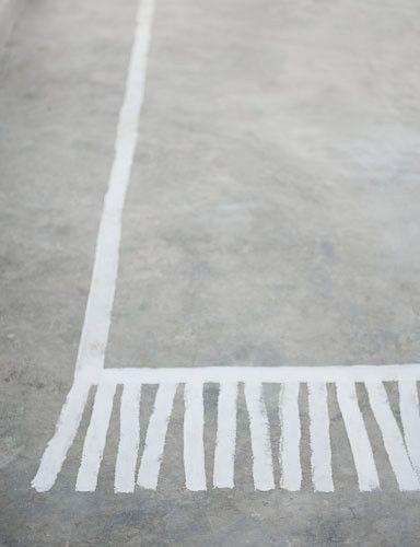 Нарисованный на полу ковер