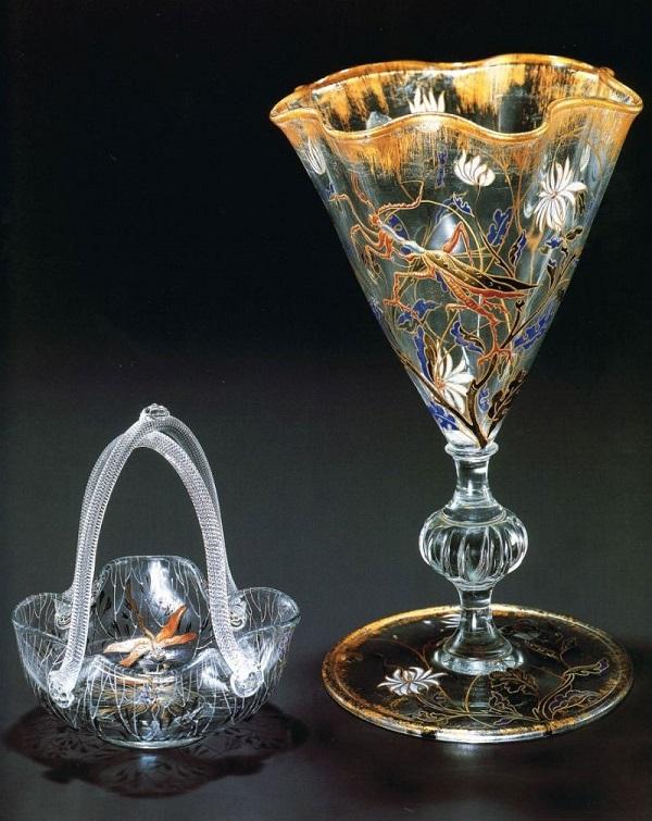 Хрустальный бокал в стиле Ар Нуво