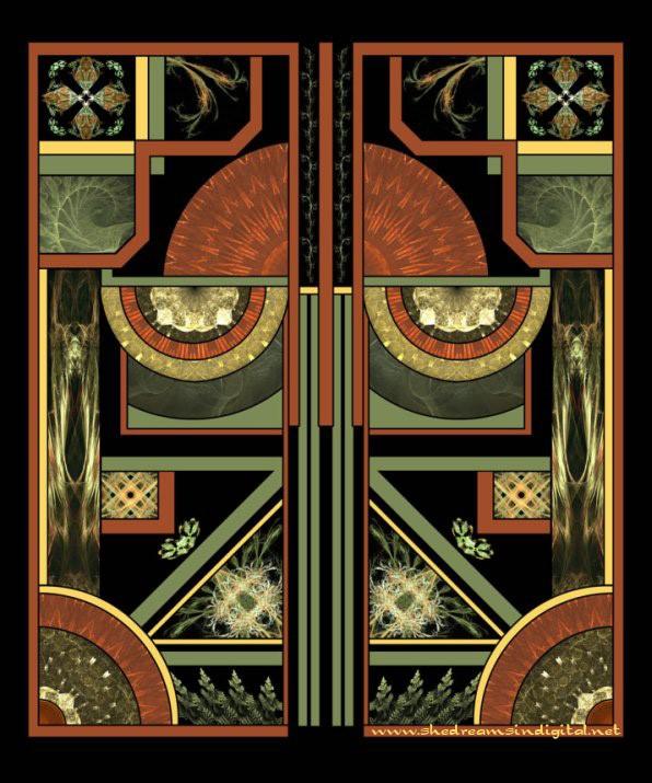 Оформление дверей в стиле Арт Деко