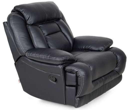 Кожаное кресло с подставкой для ног