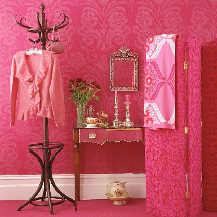 Очень розовый интерьер