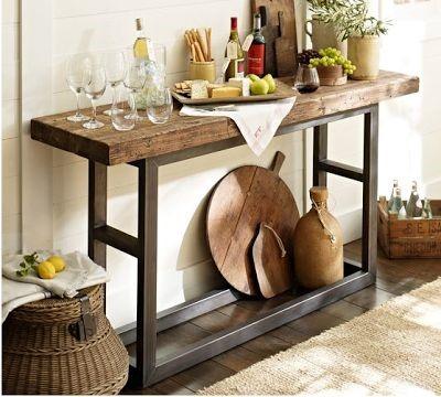 Консольный столик в стиле кантри в интерьере