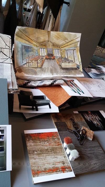 Подборка материалов под концепцию дизайна интерьера