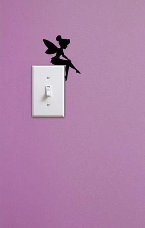 Наклейка на стену в виде феи для украшения интерьера