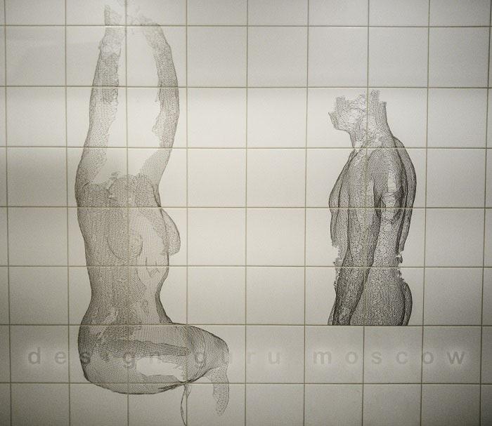 Итальянская дизайнерская плитка в интерьере ванной